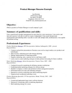 product manager resume t