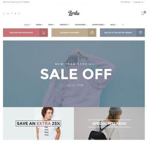 products catalog template zorka wordpress ecommerce theme