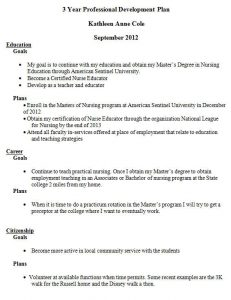 professional development plan examples orig