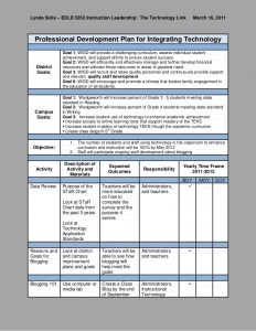 professional development plan professional development plan integrating technology 1 728