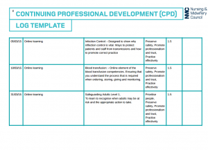 professional development plan samples example of nursing cpd portfolio