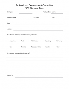 professional development plan samples professional development committee cpe request form