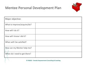 professional development plans example effective and successful mentoring