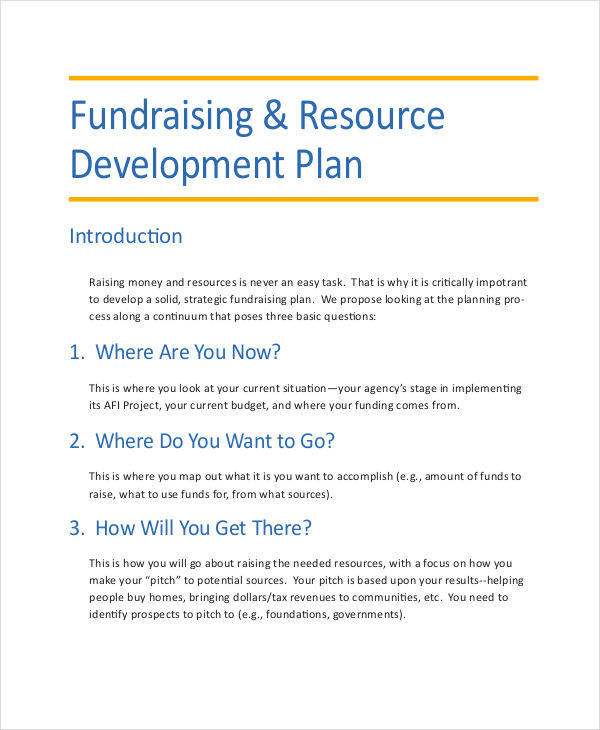 professional development plans example