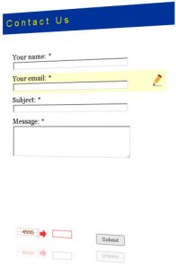 professional e mail template sample contact form