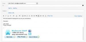 professional email signature student email signature