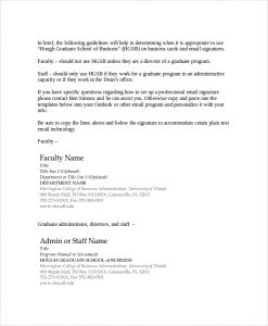 professional email templates professional email signature template