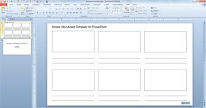 professional film storyboard template free simple storyboard template