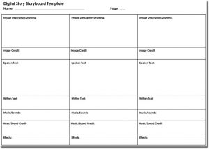 professional film storyboard template professional digital story storyboard template
