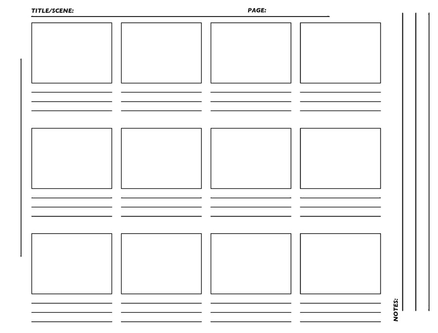 Professional Film Storyboard Template Template Business