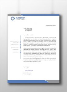 professional letter head professional corporate letterhead template download