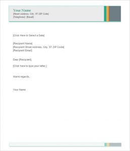 professional letter head professional letterhead template