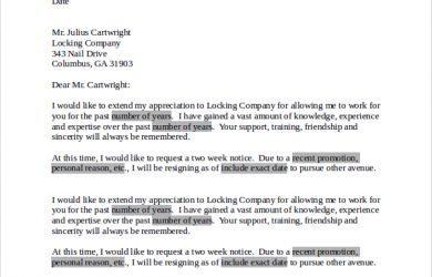 professional letter of resignation professional letter of resignation