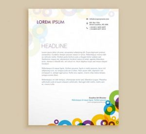 professional letterhead template free creative letterhead template