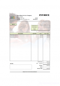 professional reference list template consulting invoicing sample with consultant background picture printed