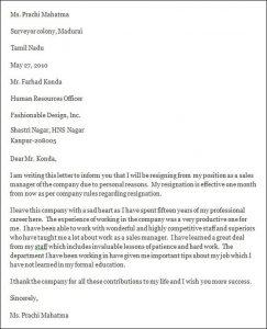 professional resignation letter professional resignation letter format
