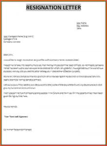 Professional Resignation Letter | Template Business