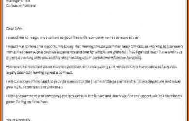 professional resignation letter professional resignation letters resignation letter template