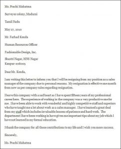 professional resignation letter sample professional resignation letter format
