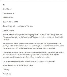 professional resignation letter sample professional resignation letter sample