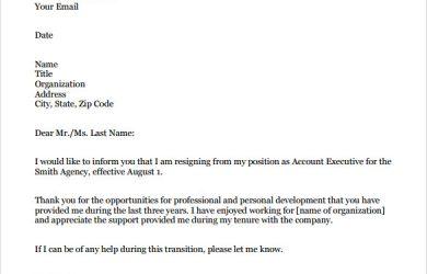 professional resignation letter sample sample formal resignation letter pdf