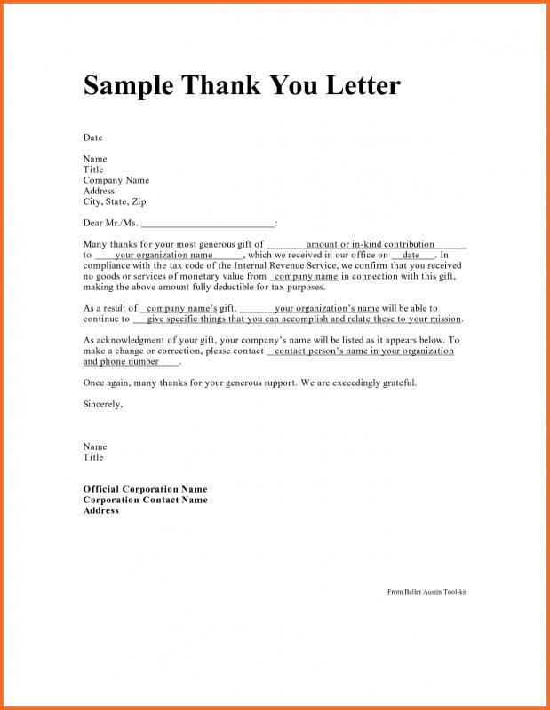 Professional Thank You Letter  Template Business