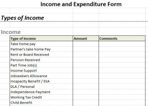 profit and loss statement for self employed income and expenditure form