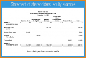 profit and loss statement for self employed statement of stockholders equity l f statement of shareholders equity example