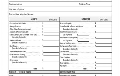 profit and loss statement form personal profit and loss statement form