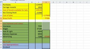 profit and loss templates profit and loss account sample