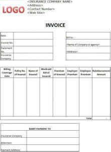 proforma invoice template insurance invoice template