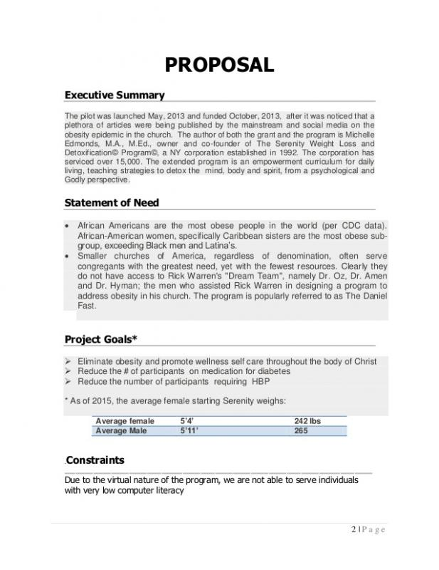 Program Proposal Template  Template Business