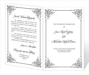 program template word ready to print wedding program template download