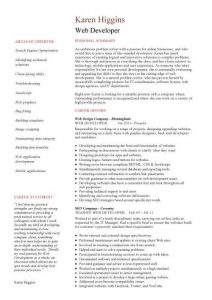 programmer resume example pic web developer resume