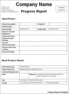 progress report format