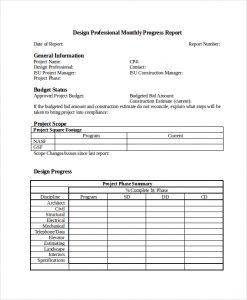 progress report template dp monthly progress report in word