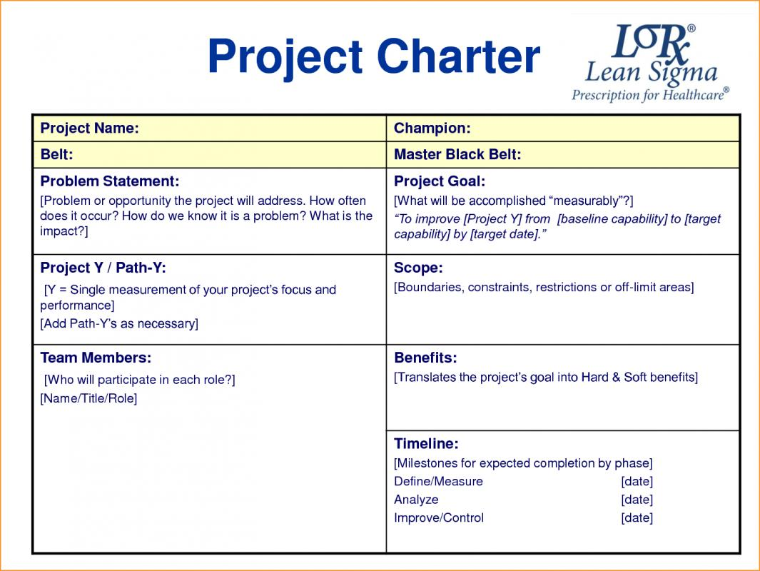 Project charter template template business for Customer care charter template