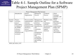 project communication plan example chap project integration management