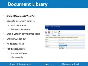 project management documents utilizing sharepoint for project management