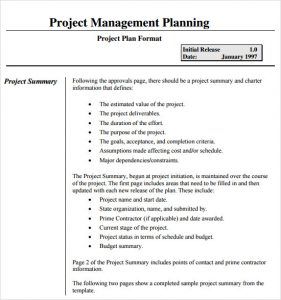 project management plan template project management plan template