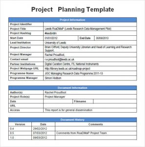 project management plan template sample project management planning template pdf