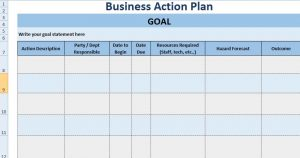 project outline template business action plan