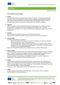 project outline template centres evaluation report template