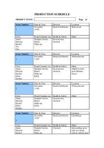 project outline template pre production templates
