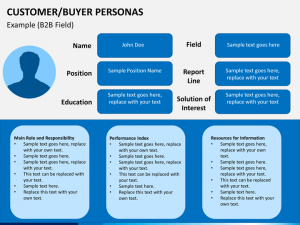 project overview template buyer personas slide