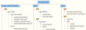 project plan outline mind map