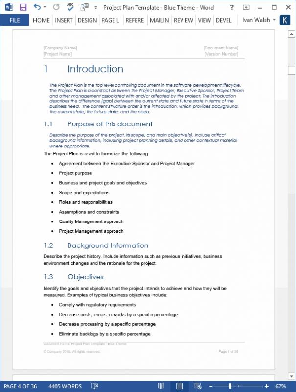 project brief template word
