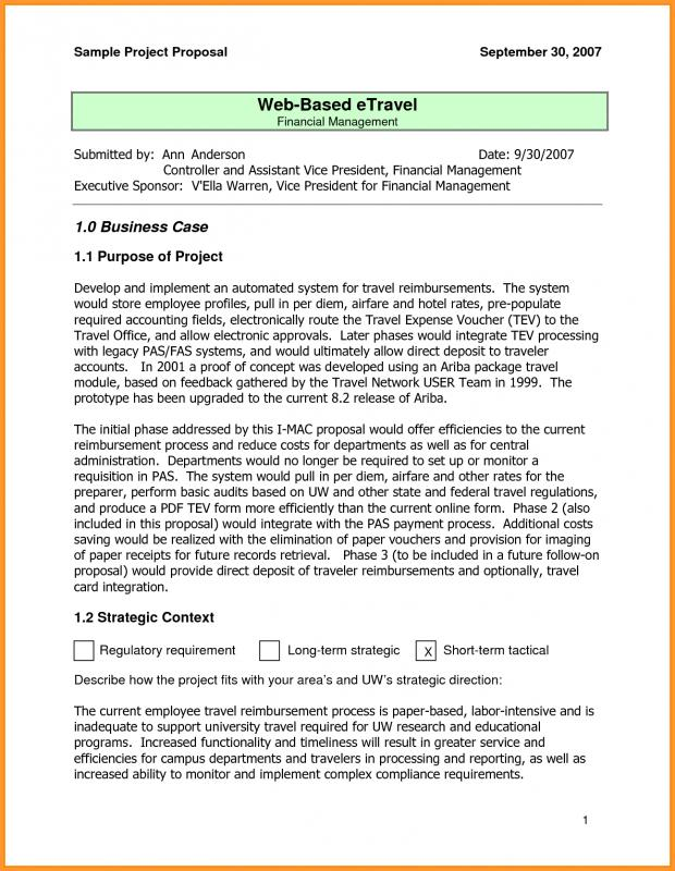 Project Proposal Example  Business Project Proposal Template