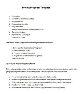 project proposal format project proposal example