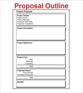 project proposal outline free project proposal outline download